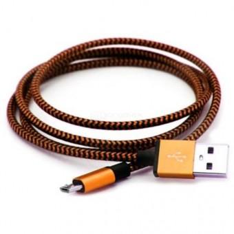 Кабель зарядки Smartbuy 12 Metal Cotton, USB - MicroUSB (1 м, золотой)