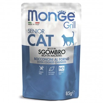 Пауч для кошек Monge Grill - Sgombro Senior (85 г)