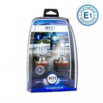 Лампы MTF Dynamic Blue H11 (12 V, 55 W, 2 шт)