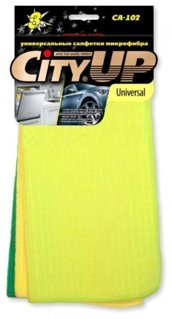 Набор салфеток CityUp CA-102 Universal (микрофибра, 3 шт)