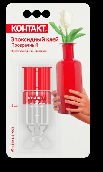 Клей Контакт Эпоксидный (прозрачный, шприц, 6 мл)