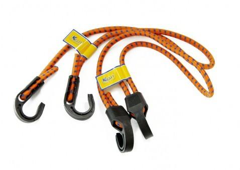 Стяжки-резинки Kraft 2 шт (2x80 см, пластик. крючки)