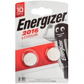 Батарейка CR2016 Energizer Lithium (блистер, 2 шт)