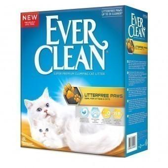 Наполнитель кошачьего туалета Ever Clean Litterfree Paws (глиняный, 6,0 кг, 6 л, свежесть)
