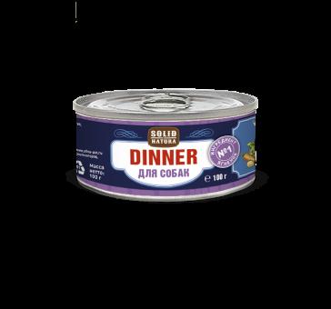 Консервы для собак Solid Natura Dinner, ягненок, 100 г