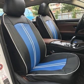 Чехлы универсальные из экокожи Автокорона T000-K - черно-синие