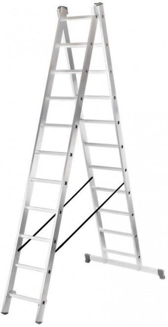 Лестница алюминиевая двухсекционная Вихрь ЛА 2х11