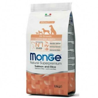 Сухой корм для щенков Monge Specialty Line - Puppy & Junior Salmone (2,5 кг)