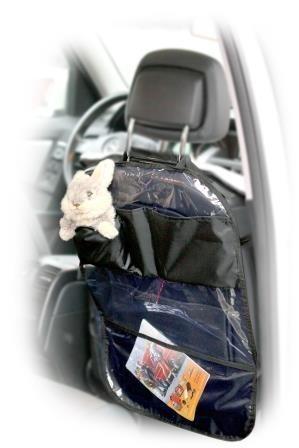 Защитная накидка на спинку сиденья AirLine (прозрачная, с карманами, 65х50 см)