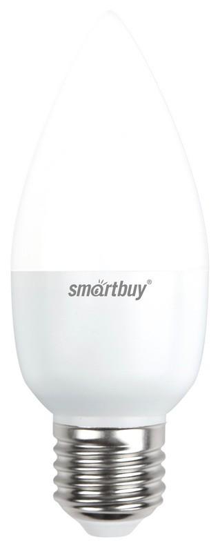 Лампа Smartbuy С37 7W 6000K E27 (560 Лм, свеча)