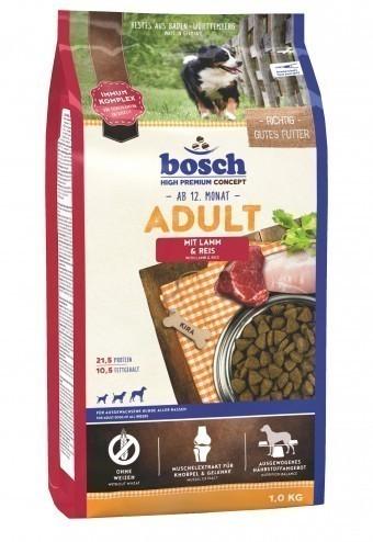 Сухой корм для собак Bosch Adult, ягнёнок и рис, 1 кг