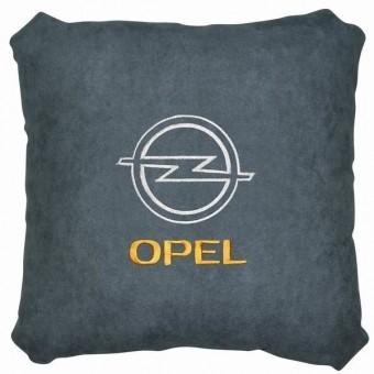 Подушка замшевая Opel (А02 - серая)