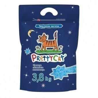 Наполнитель кошачьего туалета Pretty Cat Кристаллы чистоты (силикагель, 3,8 кг, без запаха)