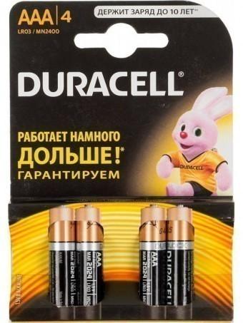 Батарейка ААА (LR03) Duracell Basic (блистер, 4 шт)