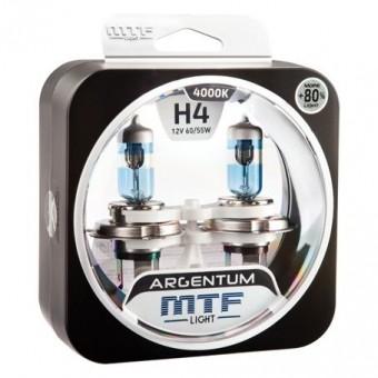 Лампы MTF Argentum +80% H4 (12v, 60/55w, H8A1204, 2шт.)