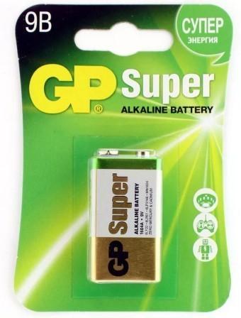 Батарейка 9V (MN1604) GP Super (блистер, 1 шт)