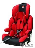 Автокресло детское 9-36кг. Little Car Brave Isofix красный
