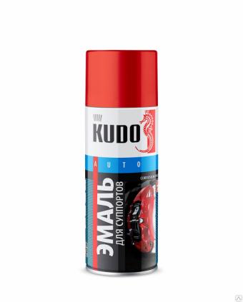 """Краска-спрей """"KUDO"""" KU-5211 для суппортов Красная (520мл) аэрозоль"""
