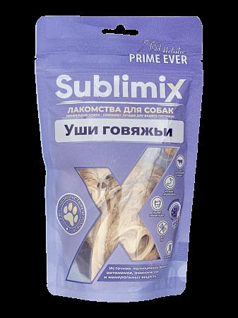 Лакомство для собак Prime Ever Sublimix, уши говяжьи, 50 г