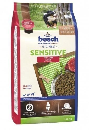 Сухой корм для собак Bosch Sensitive, ягнёнок и рис, 1 кг