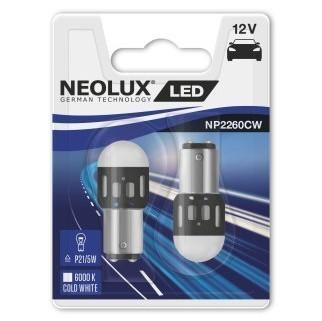 Светодиодные лампы Neolux P21/5W (6000К, 2 шт)