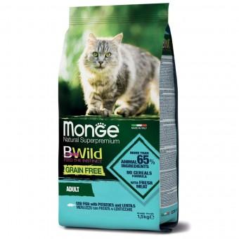 Сухой корм для кошек Monge BWild Grain Free - Adult Merluzzo (1,5 кг)