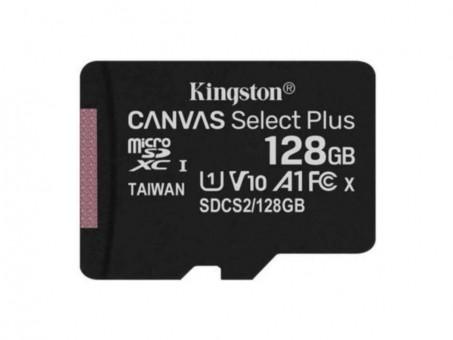 Карта памяти microSD Kingston Canv Select Plus 128 Gb (class 10, U1)