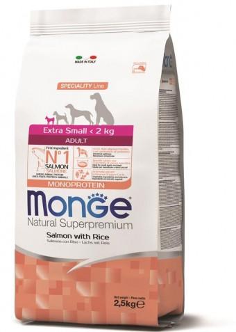 Сухой корм для собак Monge Specialty Line - Extra Small Adult Salmon (2,5 кг)