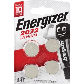 Батарейка CR2032 Energizer Lithium (блистер, 4 шт)