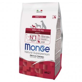 Сухой корм для собак Monge Daily Line - Mini Adult (0,8 кг)