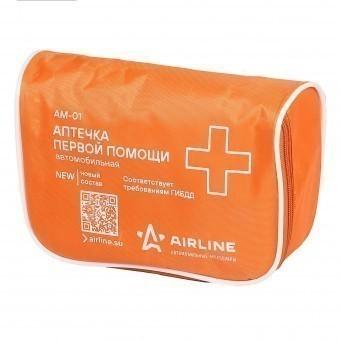 Аптечка автомобильная AirLine (стандарт ГИБДД, текстильная футляр)