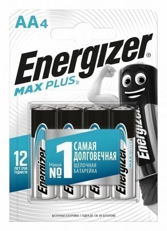Батарейки AA (LR06) Energizer Max Plus (блистер, 4 шт)