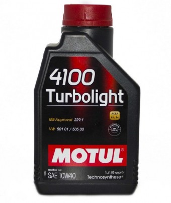 Масло моторное Motul 4100 Turbolight 10W40 (1 л)