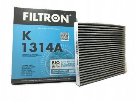 Фильтр салонный Filtron K 1314A (CUK 24 013) угольный
