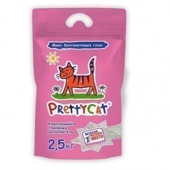 Наполнитель кошачьего туалета Pretty Cat Euro Mix (глиняный, 2,5 кг, без запаха)