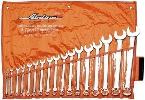Набор комбинированных ключей AirLine 17 шт, 8-32
