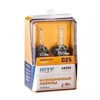 Ксеноновые лампы MTF Absolute Vision D2S 4800K (+50%, 2 шт)