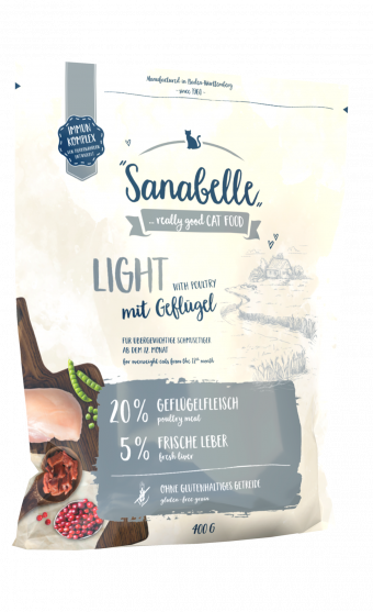 Сухой корм для кошек Sanabelle Light NEW, 0,4 кг