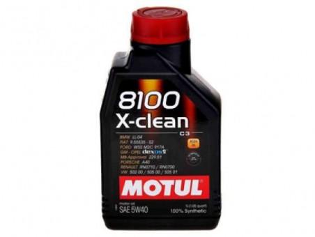 Масло моторное Motul 8100 X-clean 5W40 (1 л)
