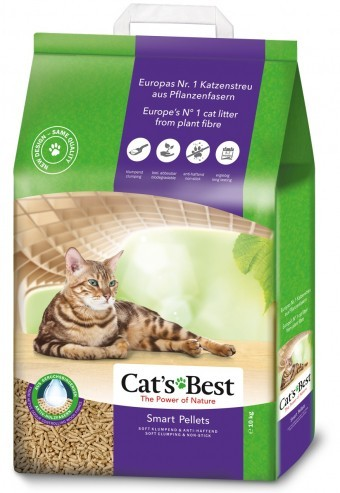 Наполнитель кошачьего туалета Cats Best Smart Pellets (древ., 10 кг, 20 л, без запаха)