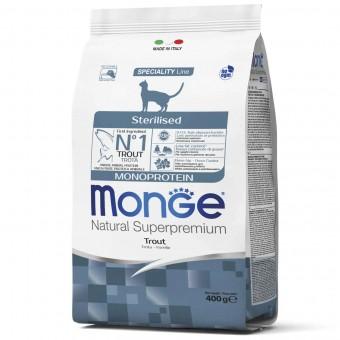 Сухой корм для кошек Monge Speciality Line - Sterilised Trout (400 г)