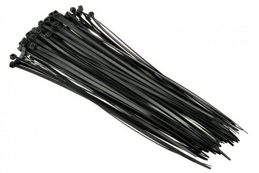 Стяжки нейлоновые Вихрь 4,8х200 (черные 100 шт)