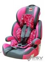 Автокресло детское 9-36кг. Little Car Brave Isofix коты-розовый