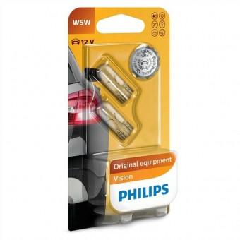 Лампы Philips W5W Vision (12 В, блистер, 2 шт)