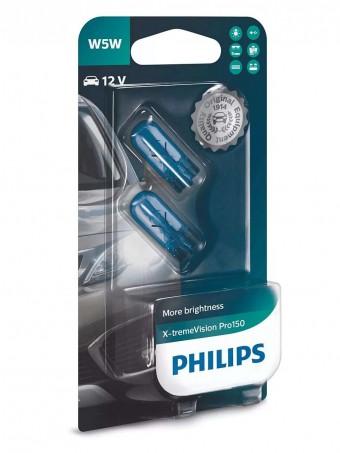Лампы Philips W5W X-tremeVision Pro150 (12 В, блистер, 2 шт)