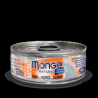 Консервы для кошек Monge Natural - Tonno del Pacifico con Salmone (80 г)