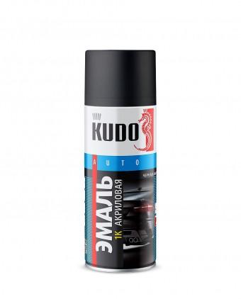 "Краска-спрей ""KUDO"" KU-5232.5 1K Черная матовая (520мл) аэрозоль"