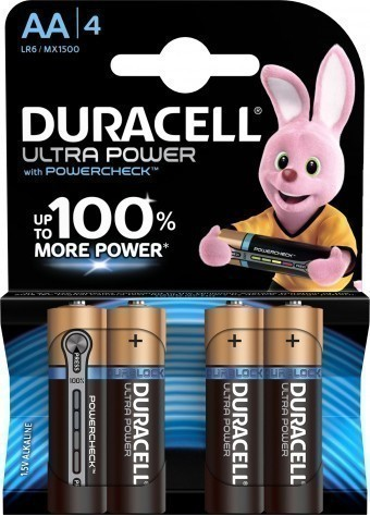 Батарейки AA (LR06) Duracell Ultra Power (блистер, 4 шт)