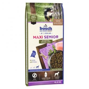 Сухой корм для собак Bosch Maxi Senior, птица и рис, 12,5 кг