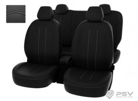 Чехлы Оригинал Toyota Rav4 IV (2013-н.в.) - черный/отстрочка белая, 121094